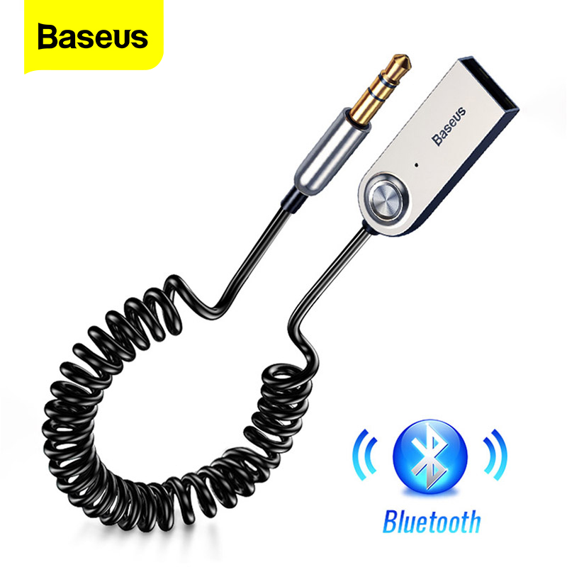 Baseus USB Bluetooth Receiver For Car 3.5 3.5mm Jack Aux Bluetooth 5.0 Bộ chuyển đổi Âm thanh không dây Âm nhạc Bluetooth Máy phát Bluetooth