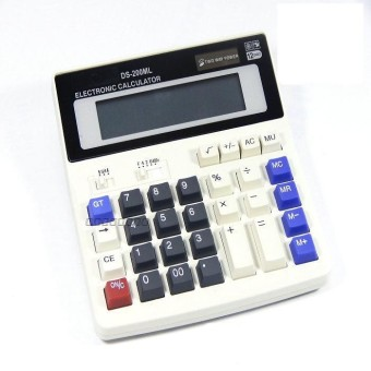 BIG New Office calculator Large computer keys DS-200ML computer Solar Calculator