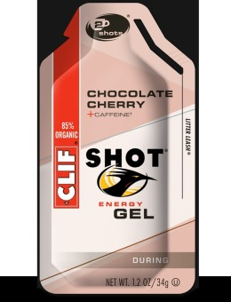Clif Shot Energy Gel Chocolate Cherry 24 Pack With Free Gift