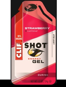 Clif Shot Energy Gel Strawberry 24 Pack With Free Gift