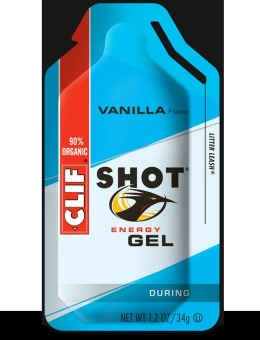 Clif Shot Energy Gel Vanilla 24 Pack With Free Gift