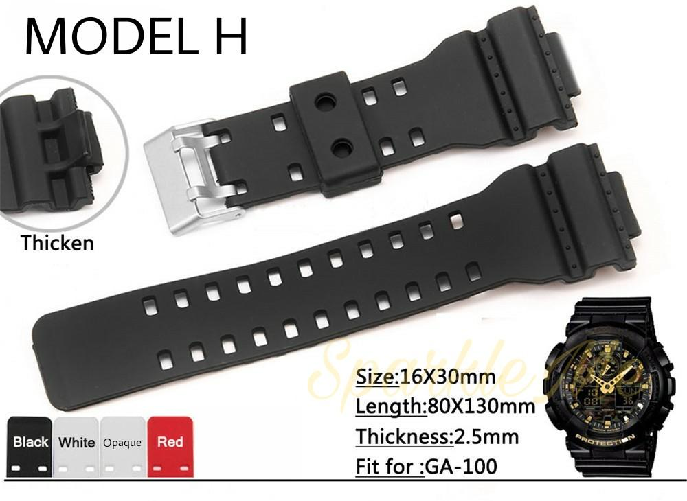 Casio Watch Strap Band Replacement 16mm Matte for 100 110 120 8900 series  GA100