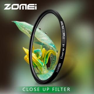 Zomei Macro Close Up Lens Filter +1 +2 +3 +4 +8 +10 optical glass camera Filter 52 55 58 62 67 72 77 82mm for DSLR SLR thumbnail