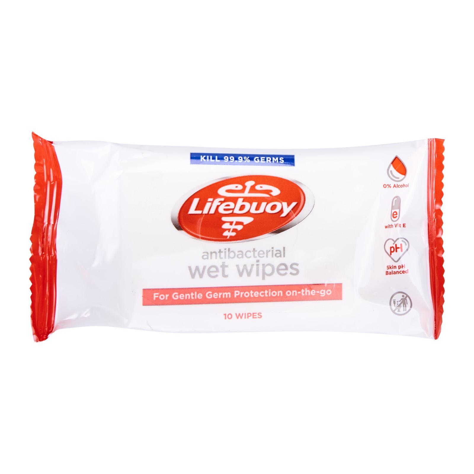 Lifebuoy Antibacterial Wet Wipes 48 count