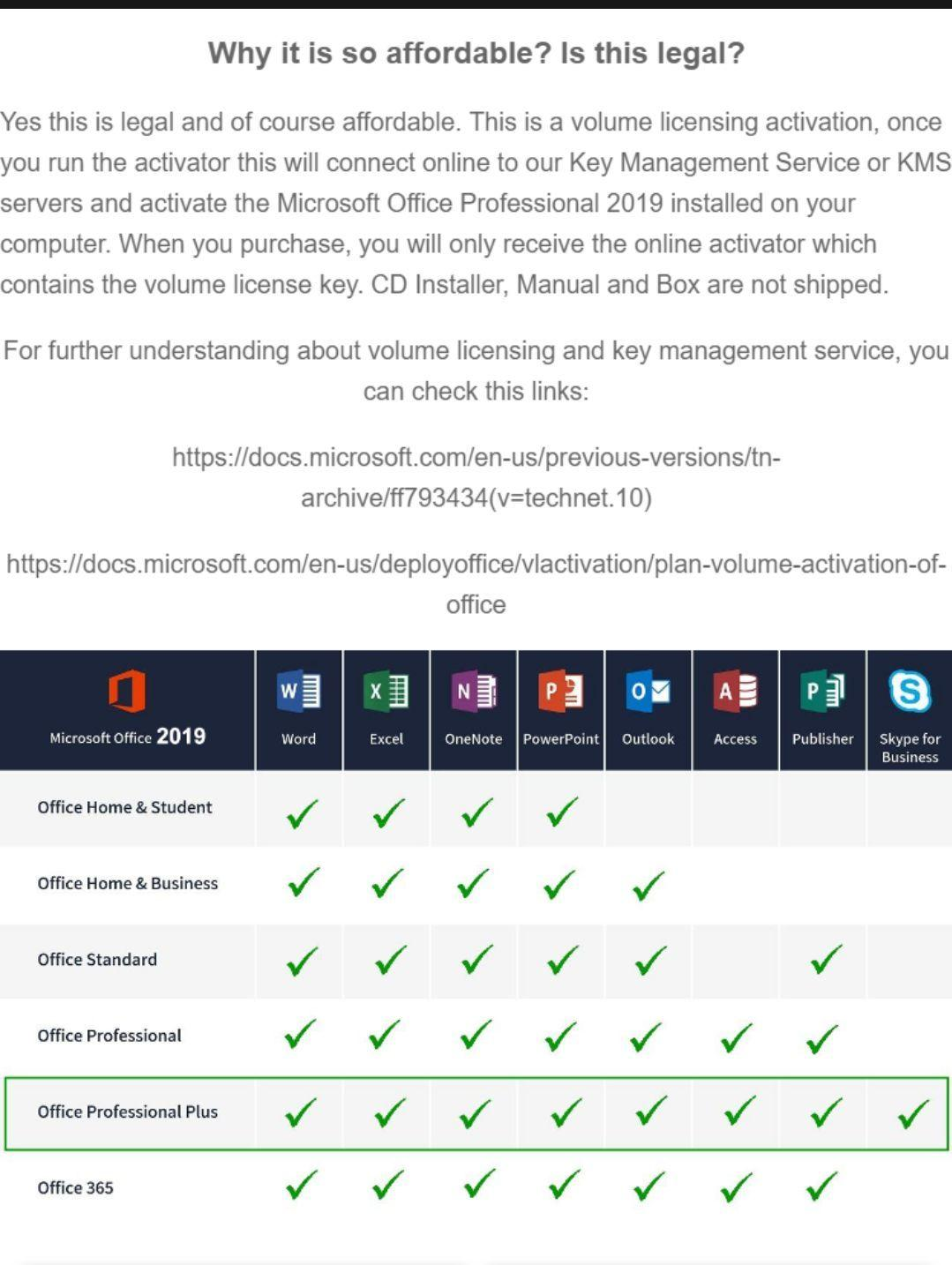 MS (Microsoft) Office 365 Pro Plus with 2019 updates (Word, Excel,  PowerPoint, etc) for Windows 10, 8 1, 8, 7 Service Pack 1  Installer comes  with