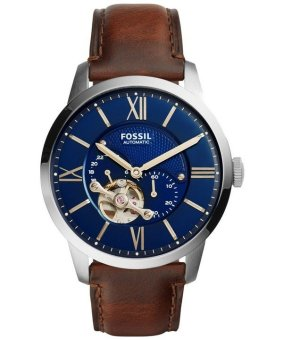 Fossil Townsman Automatic Skeleton Men's Brown Leather Strap Watch ME3110