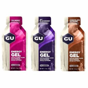 GU Energy Gel Flavor Mix 24 Pack With Free Gift