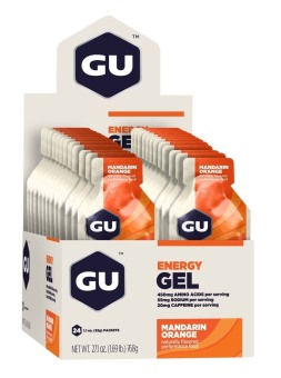 GU Energy Gel Mandarin Orange 24 Pack With Free Gift