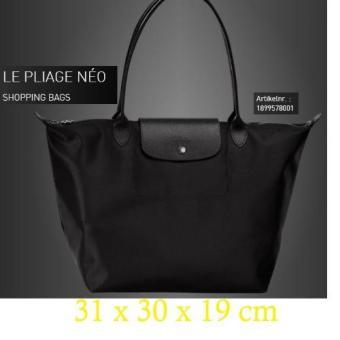 5ea3f991a92a Longchamp Large LONG HANDLE shopping Tote Bag Le Pliage Neo 1899 black