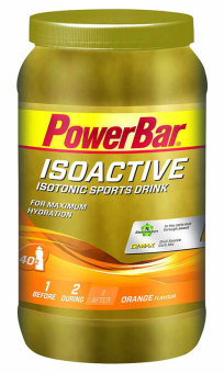 PowerBar IsoActive Isotonic Sports Drink Orange 40 Servings 1.32 kg With Free Gift