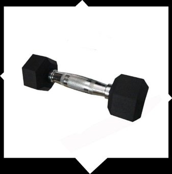 Rubber Coated Hex Dumbbell - 2kg(1kg to 9 kg)