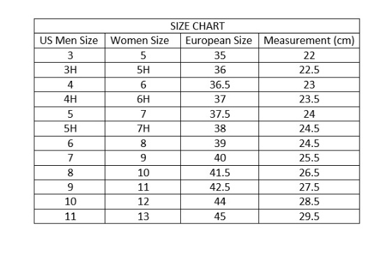 converse chuck taylor size guide
