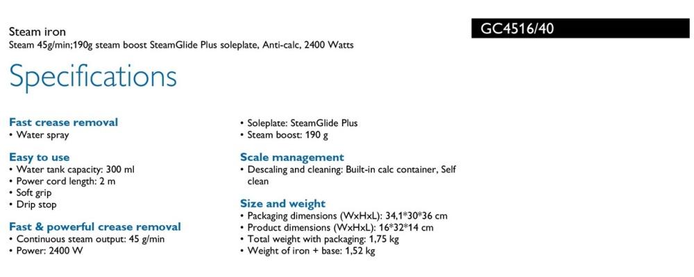 Philips Azur Performer Plus Steam Iron