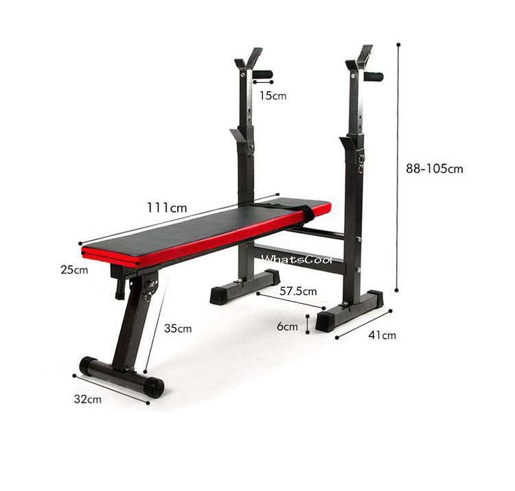Lazada Dumbbell Set: Barbell Workout Bench (Foldable)