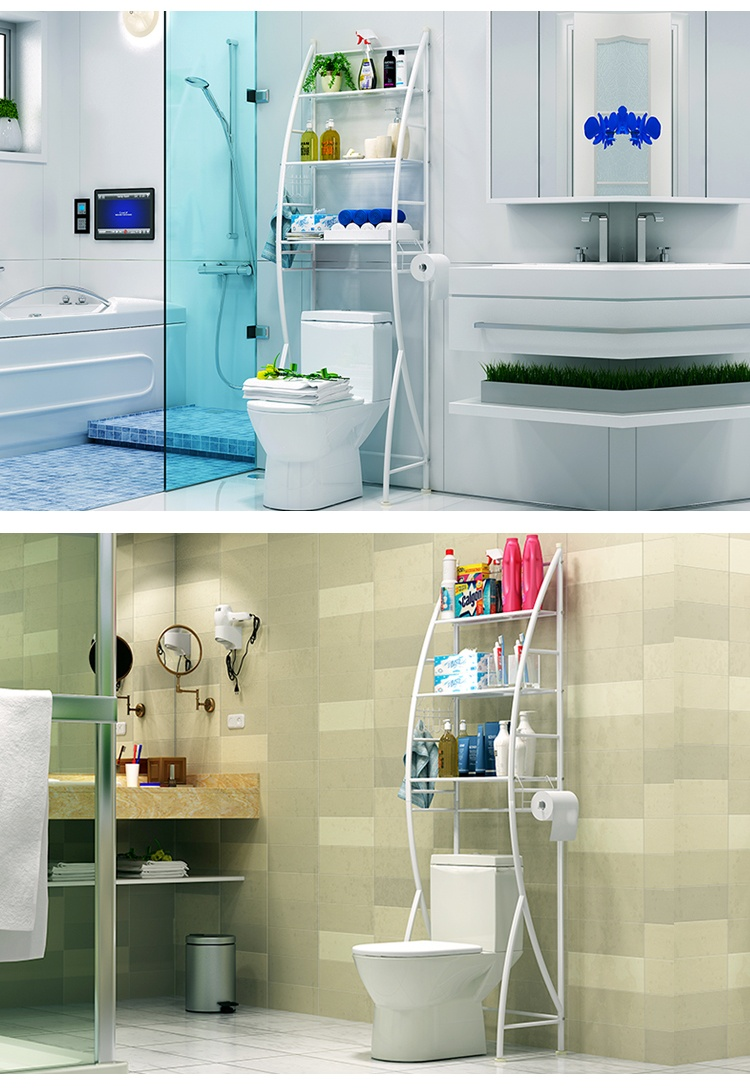 UMD Carbon Steel Storage Shelving Rack for Bathroom/Washroom ...
