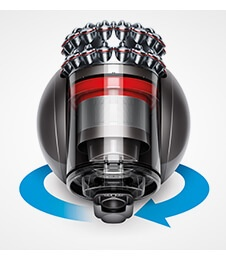 close up image of the Dyson Cinetic Big Ball, focussing on the Ball.
