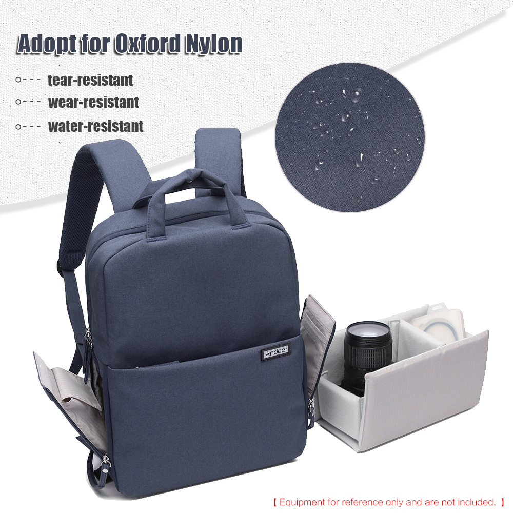 fc70db1b1996 ... Water-resistant Shockproof DSLR Camera Bag Photography Video Backpack  Leisure Shoulder Bag for Nikon Canon Sony Pentax Sony Camera w  Rain Cover  - intl