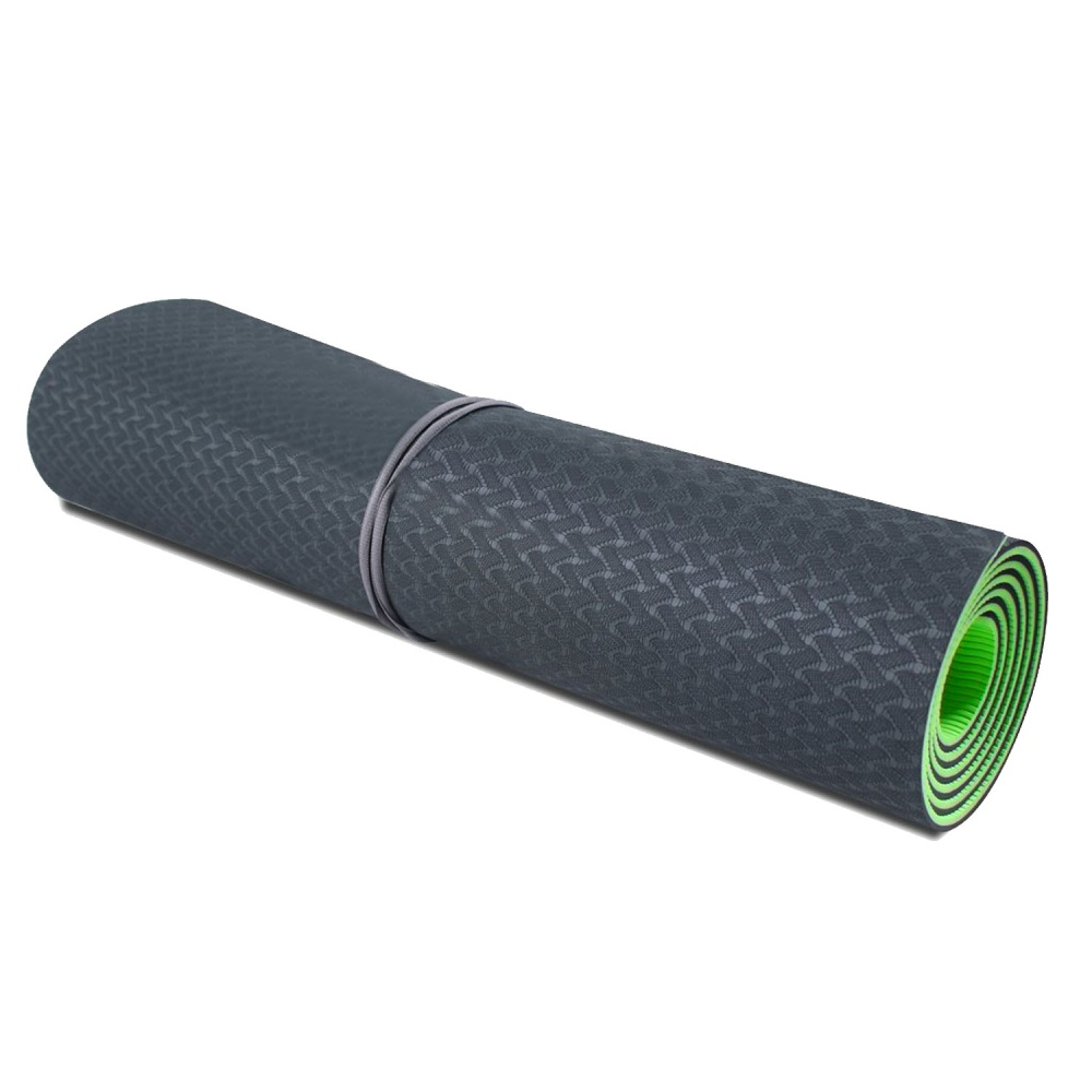 Tpe Dual Layer Design Dual Color Exercise Yoga Gym Fitness