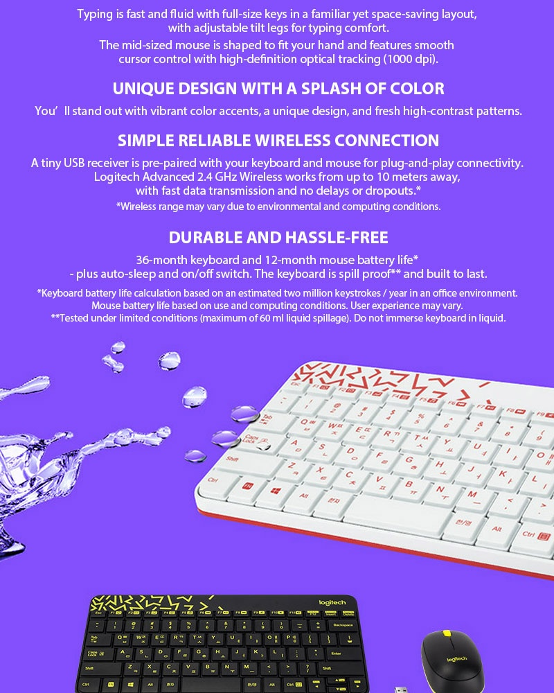 3097caa7f70 Logitech MK240 NANO USB Receiver Wireless Keyboard And Mouse Combo ...