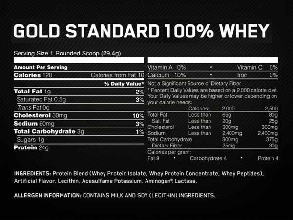 Gold standard whey protein instructions