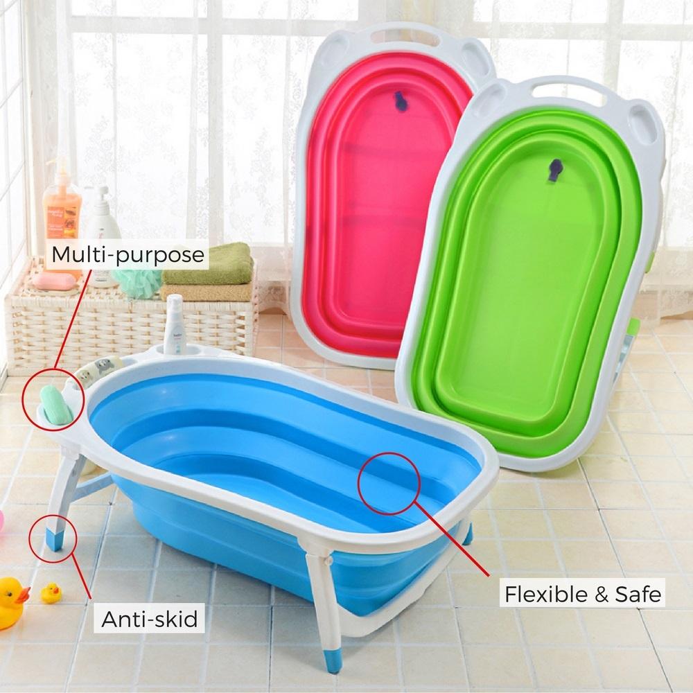 shoppy foldable space saving secure baby bath shower tub lazada singapore. Black Bedroom Furniture Sets. Home Design Ideas
