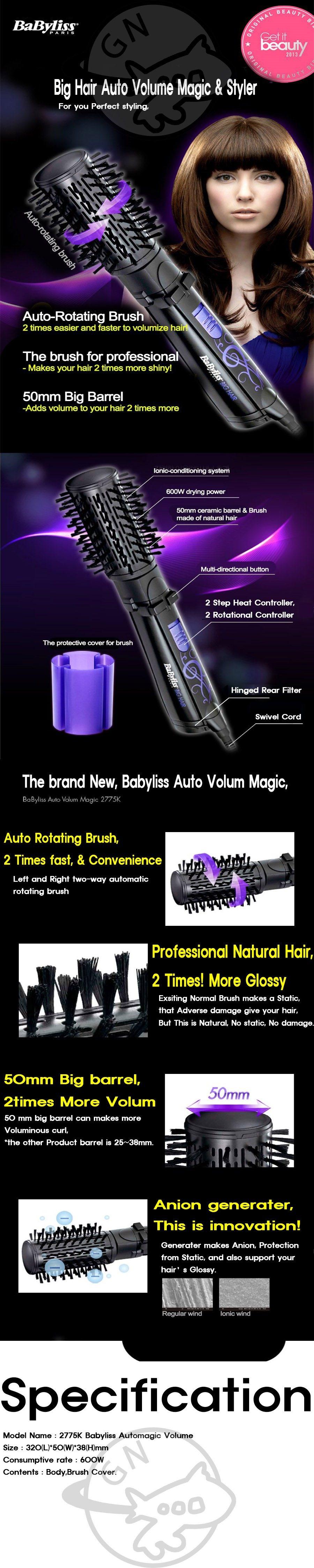 Babyliss Big Hair Volume Magic Amp Styler 2775k Black