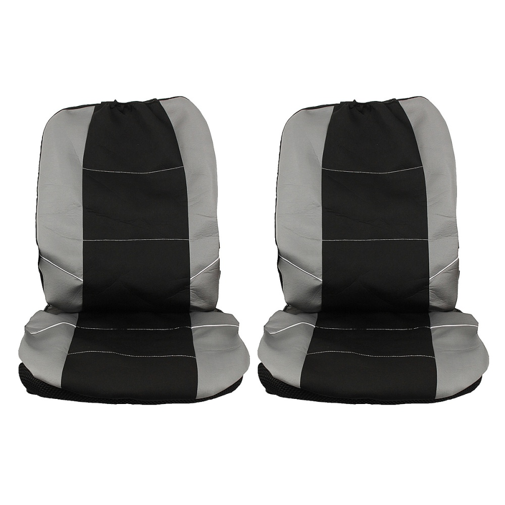 universal front car seat headrest washable covers protectors 2pcs black grey lazada singapore. Black Bedroom Furniture Sets. Home Design Ideas