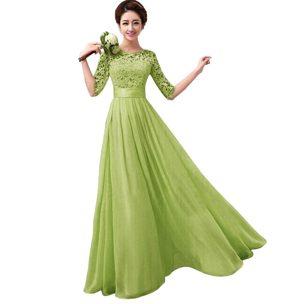 Elegant Long Green Dresses