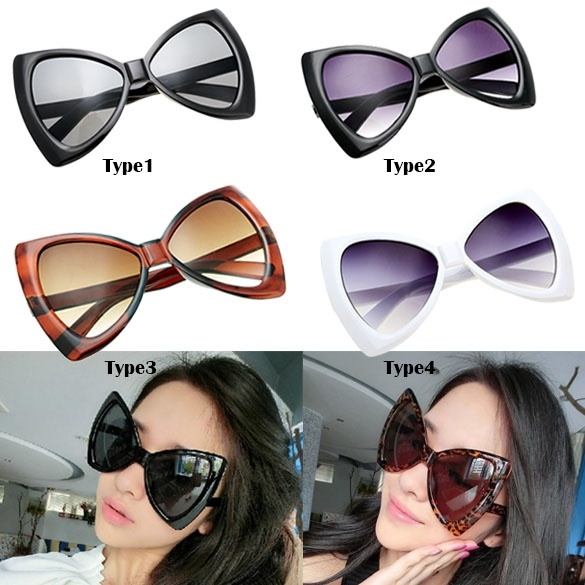Big Frame Glasses Singapore : Cyber Fashion Womens Sunglasses Bowknot Frame Big Lens ...