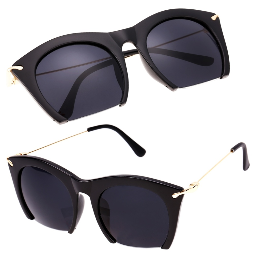 Big Frame Glasses Singapore : Cyber Korean Women Retro Sunglasses Large Half-frame Sun ...