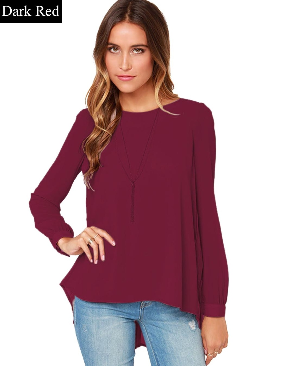 Cyber Stylish Lady Womens Casual Long Sleeve O-neck Loose-fitting ...