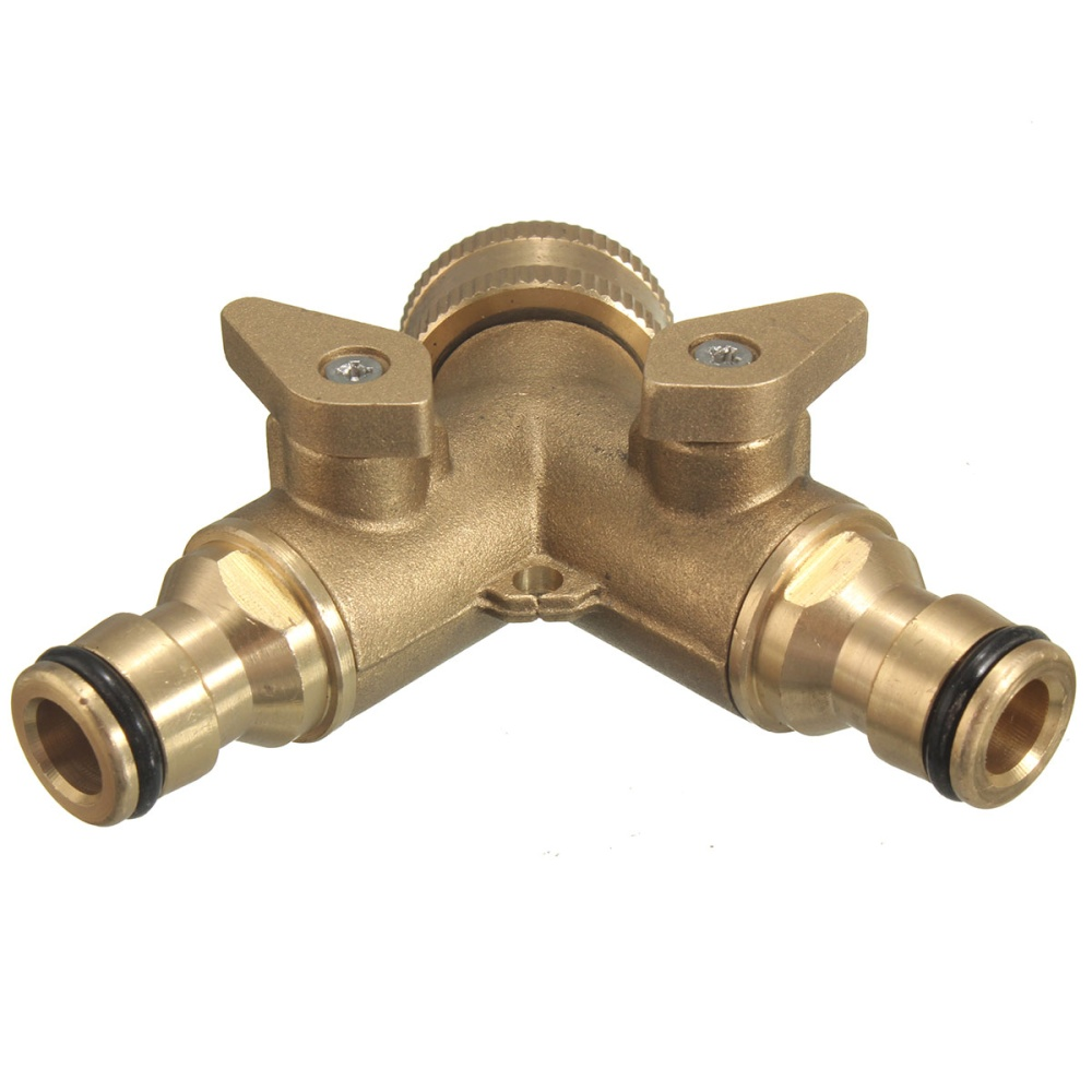 Brass 3 4 Two Way Garden Twin Tap Hose Pipe Splitter Faucet Connector Adaptor Lazada Singapore