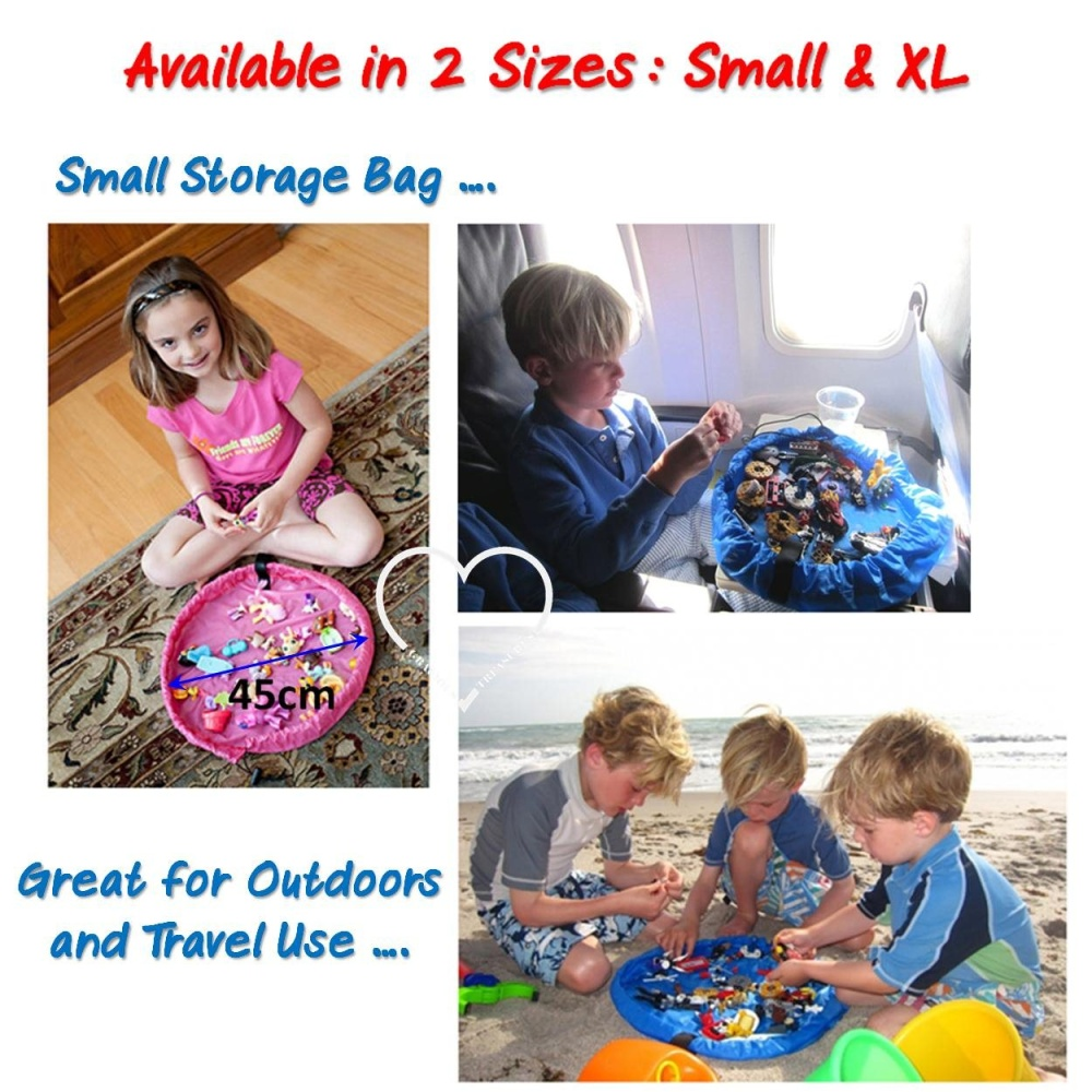 Product Details Of Extra Large Toy Storage Bag Blue