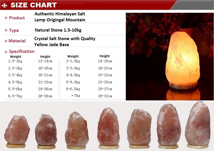 Himalayan Salt Lamp 2 To 3kg With Marble Base Air