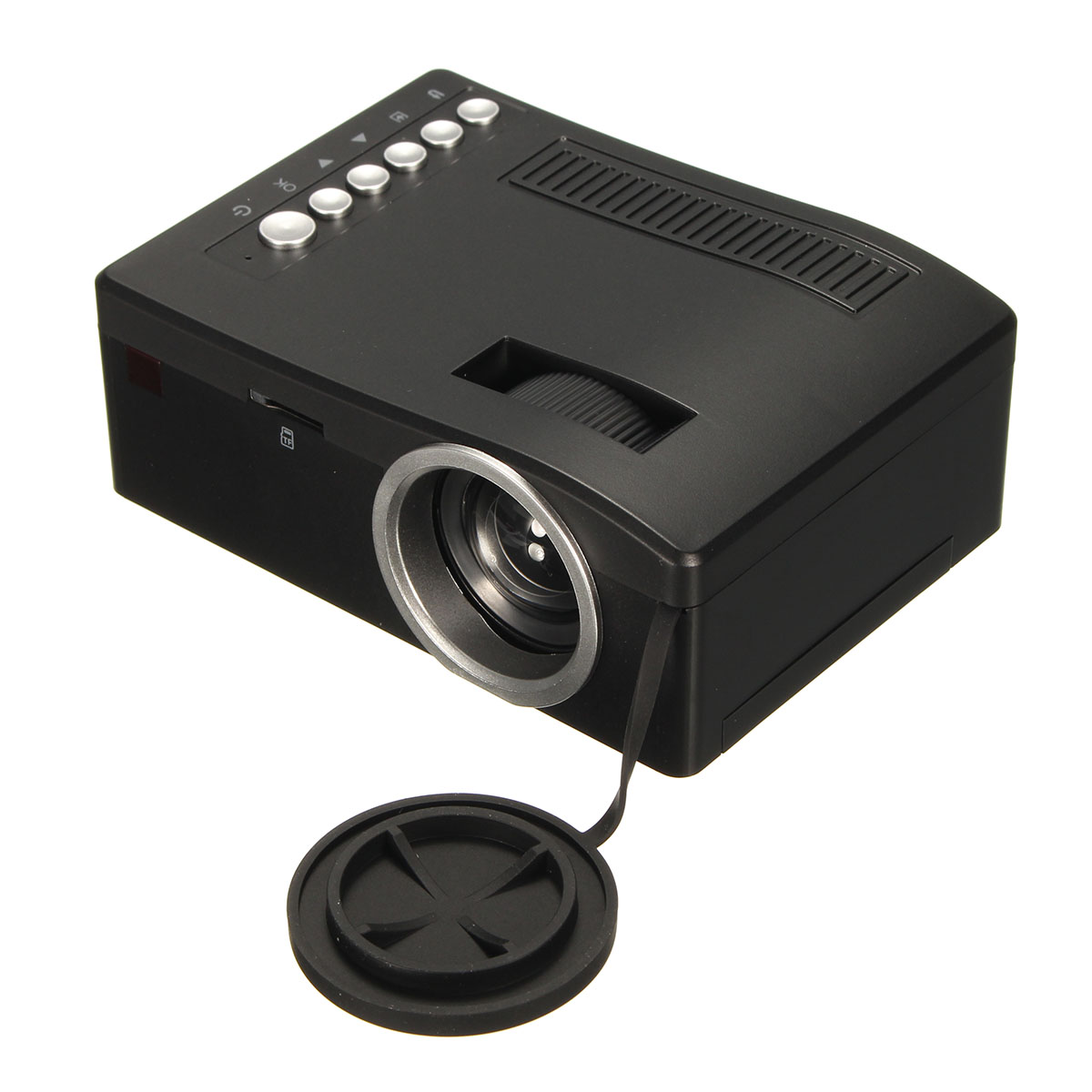Full hd 1080p input multimedia home theater led mini for What s the best pocket projector