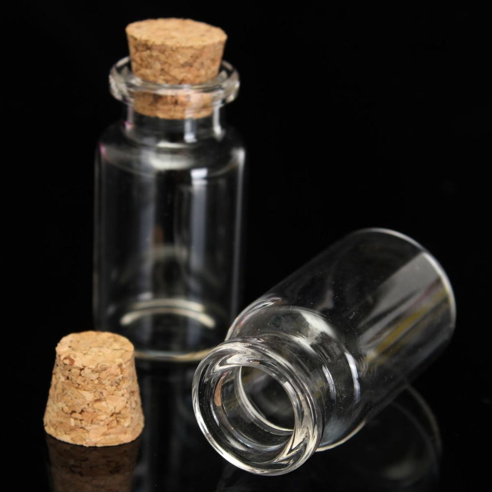 12ml 45 x 24mm Small Clear Empty Mini Cork Stopper Glass