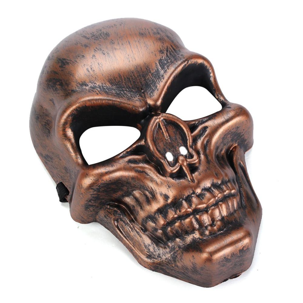 Copper Skull Skeleton Mask Halloween Masquerade Costume Carnival ...