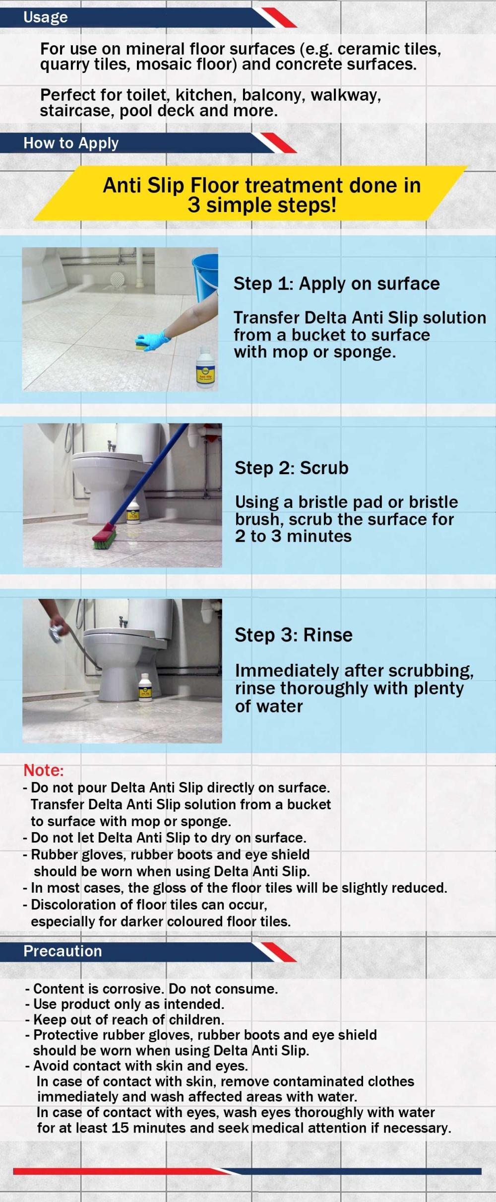 Delta Anti Slip Floor Treatment: Buy sell online Flooring ...