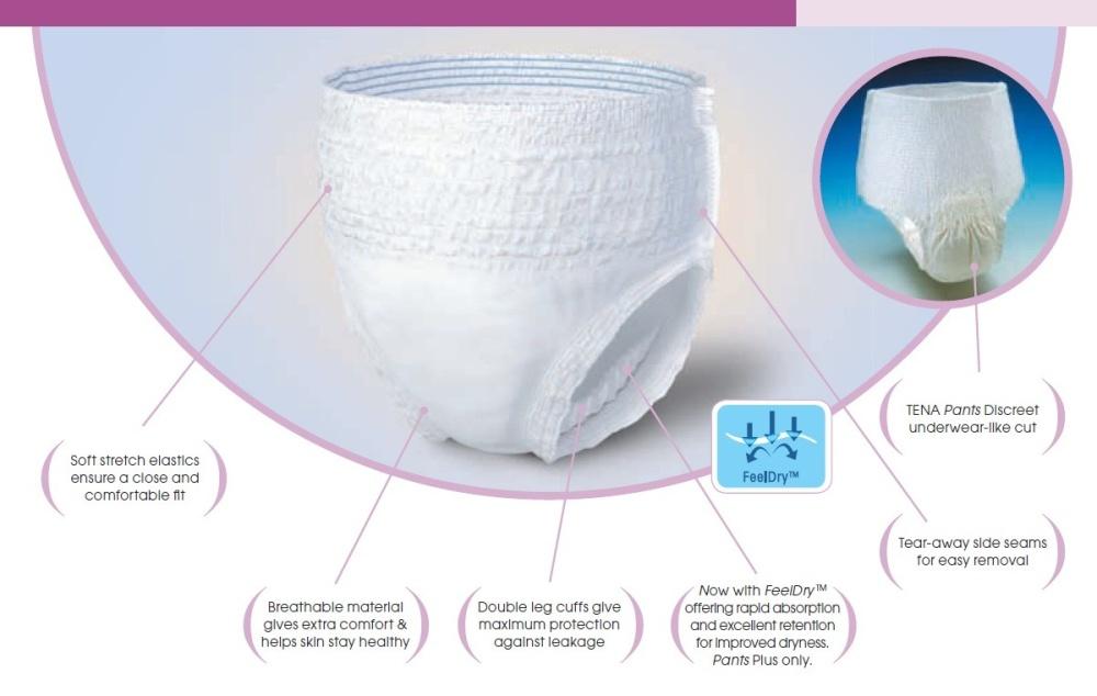 Tena Adult Diapers Pants Normal Diaper Carton Of 4 Pack Of 10 - Medium  Lazada Singapore-6534
