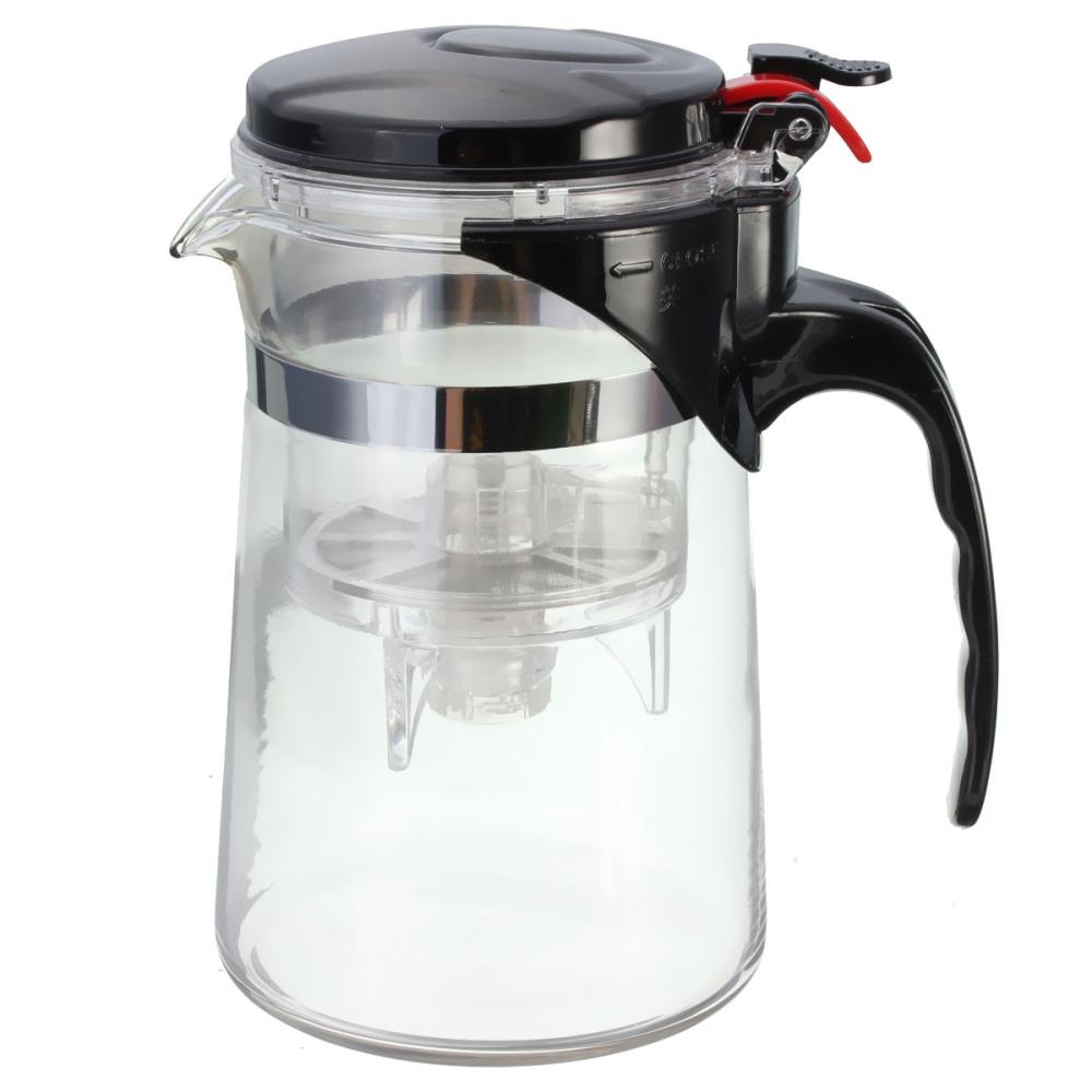 Clear Glass Tea Coffee Maker Mug Pot With Filter Infuser Straight 500ml 17Oz Lazada Singapore