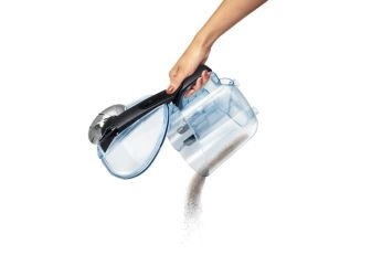 Extra Ergonomic Dust Bucket for controlled emptying