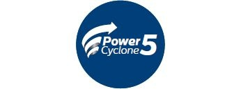 PowerCyclone 5 technology separates dust and air in one go