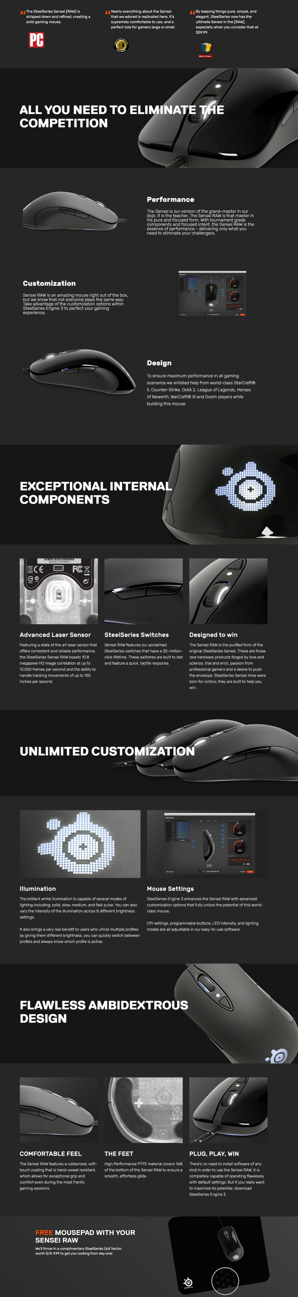 SteelSeries Sensei [RAW] Laser Gaming Mouse Frost Blue (Glossy White)  Singapore