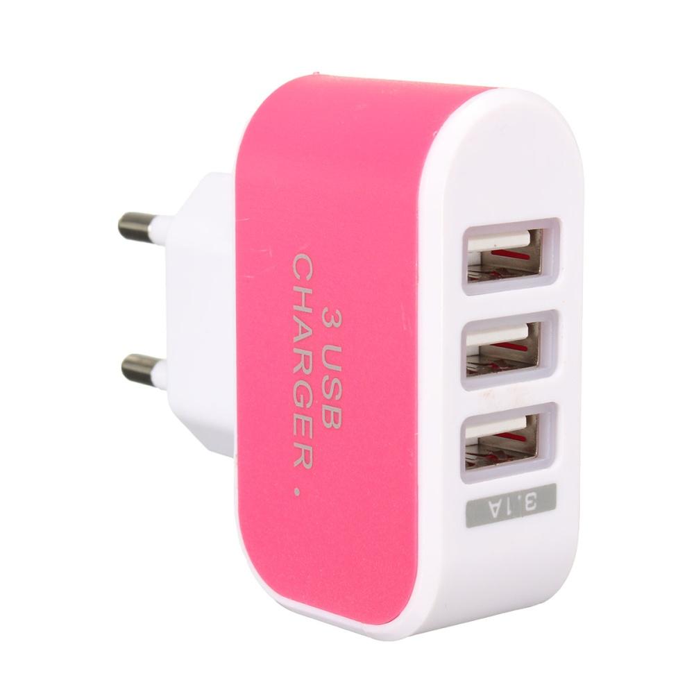 3 1a 3 Led Usb Travel Ac Plug Home Wall Power Charger