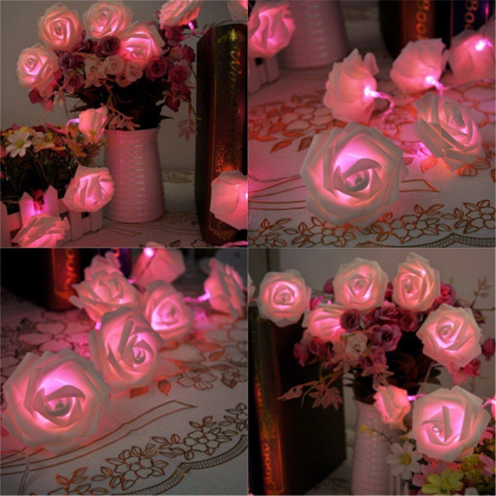 Jetting Buy 20led Rose Flower Fairy Light Wedding Party Xmas String