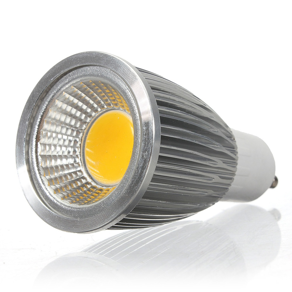 100 brand new and high quality bright led bulb light led type cob led spotlight nondimmable base type gu10 wattage 7w color warm white 30003500k