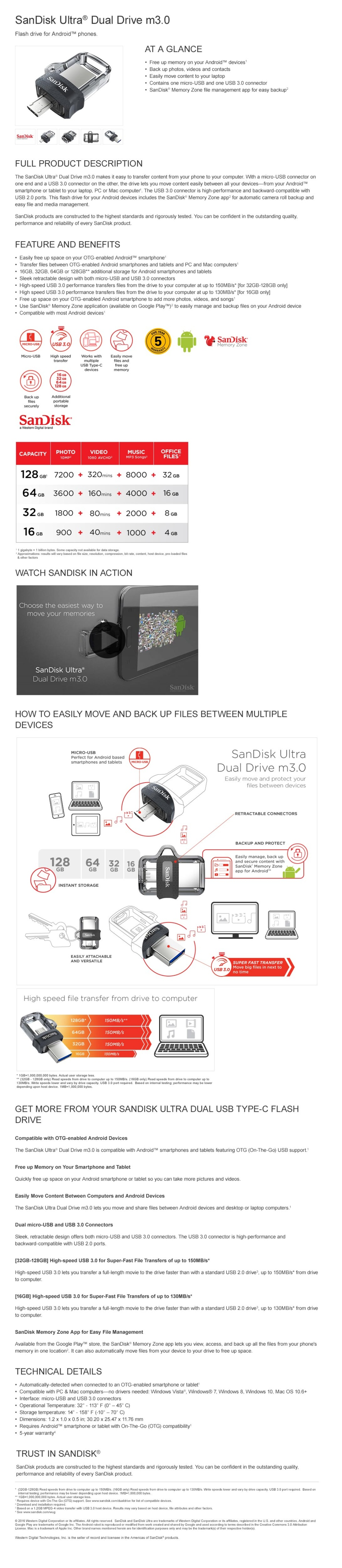 Sandisk Ultra Dual Drive M30 32gb Usb 30 Otg Flash Sddd3 Rely Product Details Of