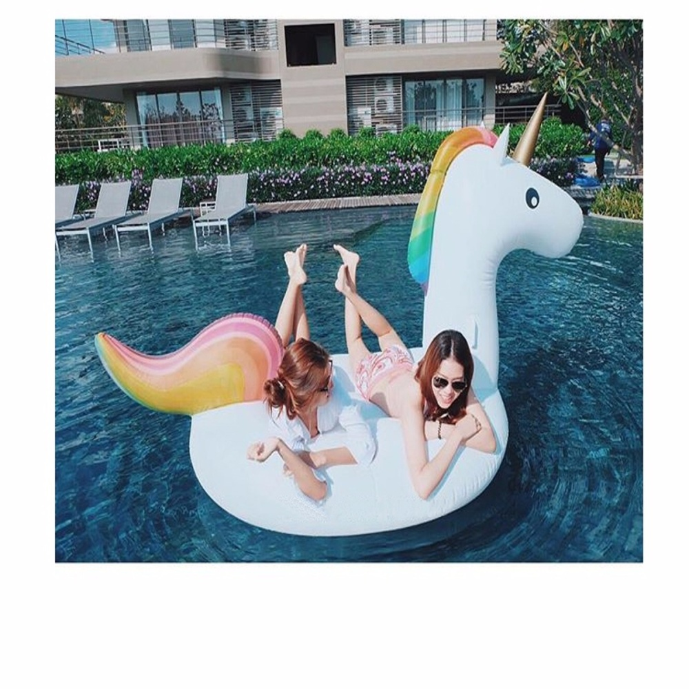 Large Inflatable Pool Float Rainbow Unicorn Lazada
