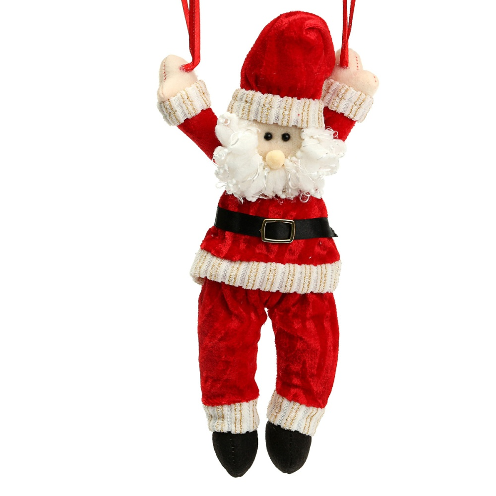 Christmas tree hanging decorations new parachute santa claus snowman - Image