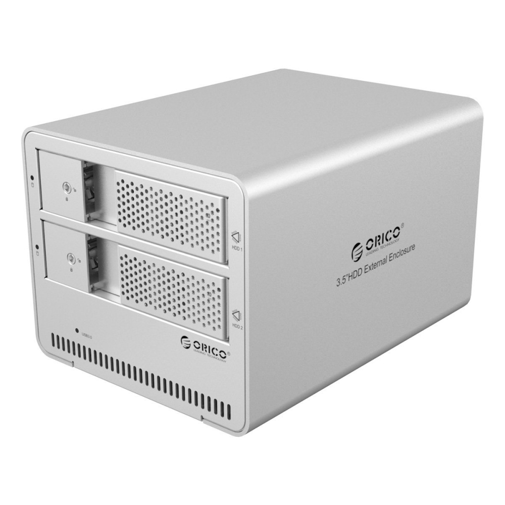 Orico 9528u3 Tool Free Aluminum Usb 30 Dual Bay 35 Inch Sata 2588us3 Hdd Harddisk Enclosure 25 Portable Super Speed Image